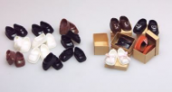 5 Pairs of Teenagers Dolls Shoes, Dolls House Miniature (XZ762)
