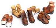 Six Pairs of Mens Doll Shoes by Heidi Ott (XZ770)