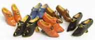 Six Pairs of Womens Doll Shoes by Heidi Ott (XZ776)