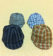 Set of 4 Dollhouse Dolls  Hats (XZ783)