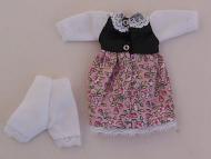 Teenagers Floral Dress, Dolls House Miniature (XZ823)