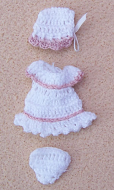 Babies Outfit- White, Dolls House Miniature (XZ850)