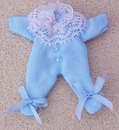 Babies Outfit- Blue, Dolls House Miniature (XZ852)