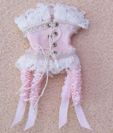 Corset- Rose & White, Dolls House Miniature (XZ903)