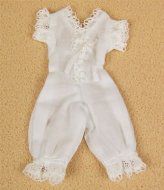 White One Piece Underwear, Dolls House Miniature (XZ916)