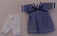 Child's Blue and White Dress, Dolls House Miniature (XZ941)