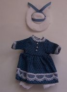 Girls Blue Dress, Dolls House Miniature (XZ945)