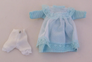 Child's Mint Dress, Dolls House Miniature (XZ947)