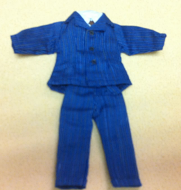 Mans Suit for Tall Men, Dolls House Miniature (XZ973)