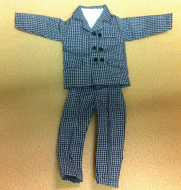 Mans Suit for Tall Men, Dolls House Miniature (XZ976)