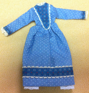 Ladies Dress, Dolls House Miniature (XZ978)
