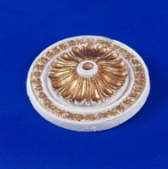 Resin Dolls House Ceiling Rose (Gilt Painted) (YCK902G)
