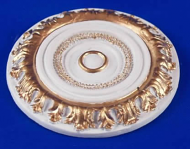Resin Dolls House Ceiling Rose (Gilt Painted) (YCK911G)