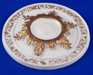 Resin Dolls House Ceiling Rose (Gilt Painted) (YCK912G)