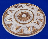 Resin Dolls House Ceiling Rose (Gilt Painted) (YCK920G)