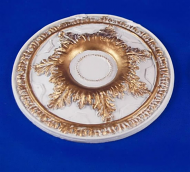 Resin Dolls House Ceiling Rose (Gilt Painted) (YCK921G)