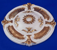 Resin Dolls House Ceiling Rose (Gilt Painted) (YCK922G)