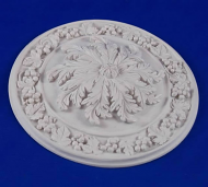 Resin Dolls House Ceiling Rose (Plain Finish) (YCK924)