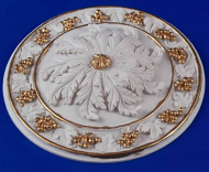 Resin Dolls House Ceiling Rose (Gilt Painted) (YCK924G)