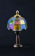 Dolls House Coloured Tiffany Table Lamp (YL1012)