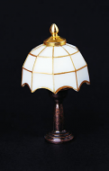 Dolls House White Tiffany Table Lamp (YL1014)