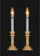 Dolls House Pair of Candlesticks (YL1045)