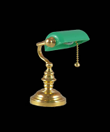 Dolls House Office Table Lamp with Green Shade (YL1096)