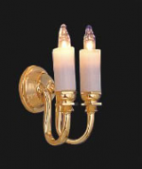 Dolls House Double Candle Wall Sconce (YL2002)