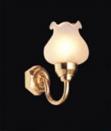 Dolls House Wall Light with Frosted Shade (YL2006)