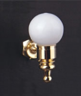 Dolls House Wall Lamp with removeable Globe (YL2025)