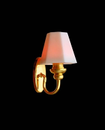 Dolls House Wall Lamp with White Shade (YL2045)
