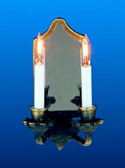 Dolls House Nostalgic Double Candle Wall Lamp (YL2089)