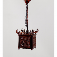 Dolls House Oriental Lamp with a Glass Shade (YL5050)