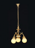 Dolls House Chandelier (Hanging 3-Arm White Globe) (YL6015)