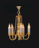 Dolls House Chandelier (5-Up-Arm Brass Palace) (YL6028)