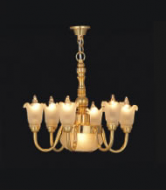 Dolls House Chandelier (6-Up-Arm Tulip Shade) (YL6036)
