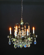 Dolls House Real Crystal Chandelier (6-Arm Nostalgic) (YL7001-1)
