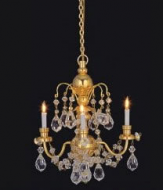 Dolls House Real Crystal Chandelier (3-Arm) (YL7002)