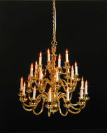 Dolls House Chandelier (24 Arm in 3 Layers) (YL8015)