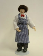 Heidi Ott Dolls House Doll, Butcher with a Blue Apron (X022)