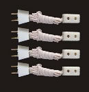 Dolls House Single Socket Extension Cord (Pack of 4) (YL9013)