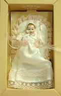 Heidi Ott Dolls House Doll, Baby in a Pale Pink Christening Gown (XB016)