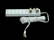 Dolls House Six Socket Extension Cord (YL9072)