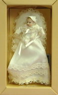 Heidi Ott Dolls House Doll, Baby in a Long Ivory Christening Gown (XB018)