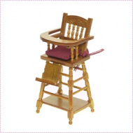 Cherry Child's Highchair, Dolls House Miniature (XY107C)
