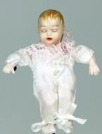 Heidi Ott Dolls House Doll, Sleeping Baby in a White Outfit (XB053)