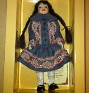 Heidi Ott Child Doll Girl in a dress (XC040)