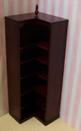 Dolls House Miniature Mahogany Shop Corner Shelf Unit (XY704M)