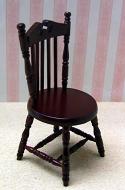 Dolls House Miniature Mahogany Office Chair (XY716M)