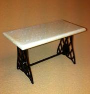 Dolls House Iron Bistro Table (Beige) (XY780B)